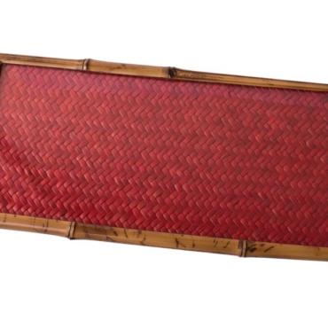 primedecor bandeja palha vermelha 17 x 37
