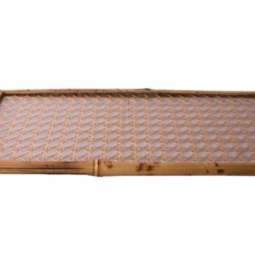 primedecor bandeja trelicada de palha dourada 17 x 37 cm
