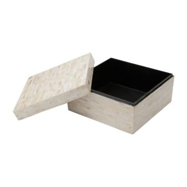 primedecor caixa de madeira com madreperolas