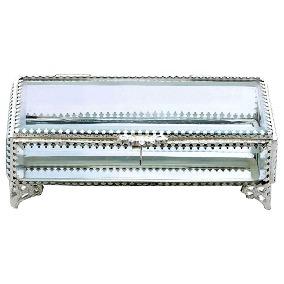 primedecor caixa silver com vidro bisotado wolff