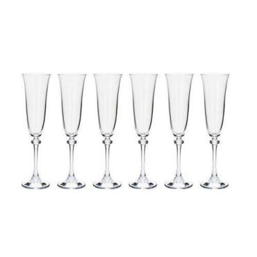 primedecor conjunto de tacas para champanhe alexandra bohemia 6 pecas