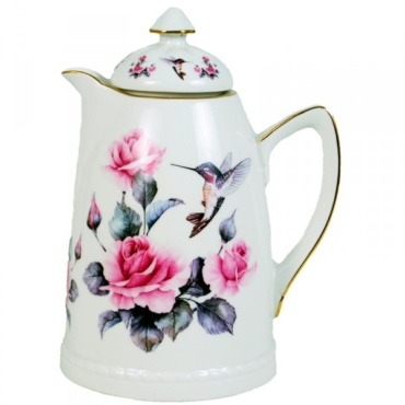 primedecor garrafa termica de porcelana beija flor