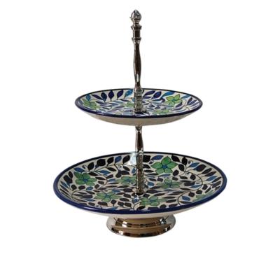 primedecor prato de ceramica dois andares 34 x 26 cm 1