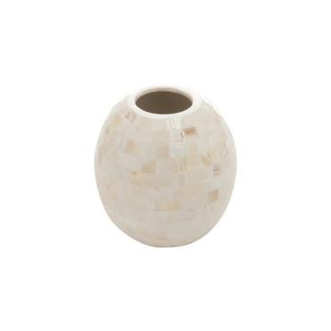 primedecor vaso oval madreperolas