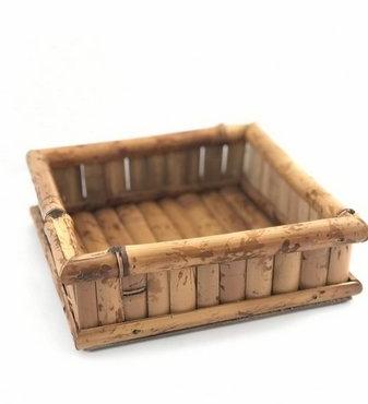 primedecor porta guardanapo em bambu natural g