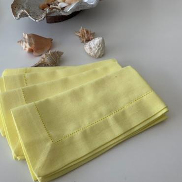 primedecor guardanapo em linho amarelo 40 cm x 40 cm copia