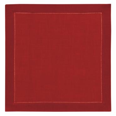 primedecor guardanapo em linho vermelho 40 cm x 40 cm
