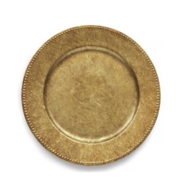 primedecor sousplat ouro velho 33 cm