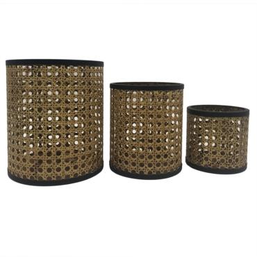 primedecor conj de cestos de trelica com metal 3 pecas