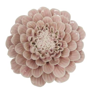 primedecor flor decorativa de mesa em ceramica rosa 13 cm