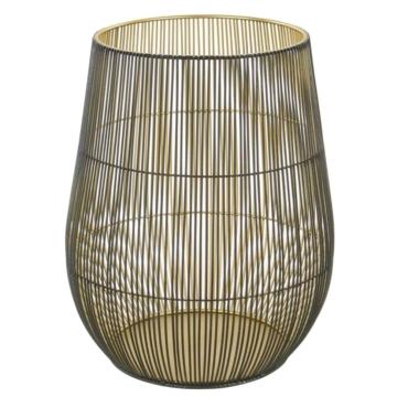 primedecor lanternas de metal dourada 245 x 31 cm