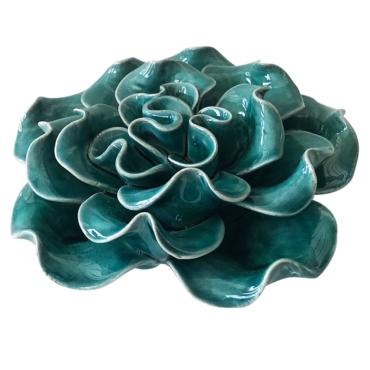 primedecor flor decorativa de mesa em ceramica verde 125 cm