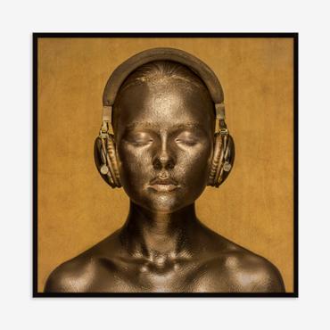 primedecor quadro golden tones nicole wells 100 x 100 cm